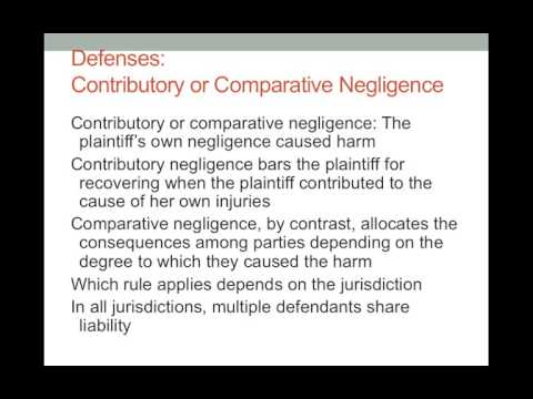 Torts Negligence III Defenses