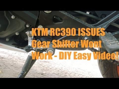 KTM RC390 ISSUES Gear Shifter Wont Work - DIY Easy Video!