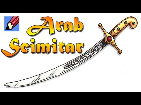 How to draw an Arab Scimitar Real Easy