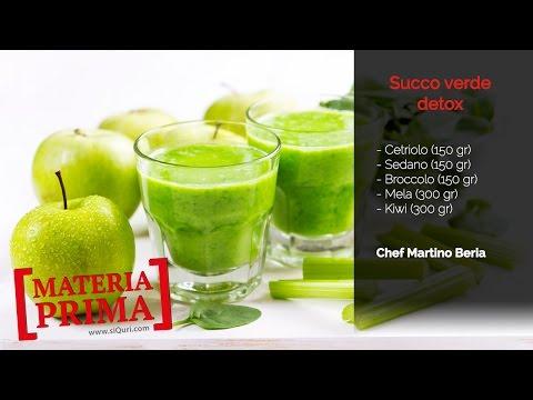 ricetta per un succo verde detox ideale per il cambio di stagione