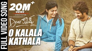 O Kalala Kathala Video Song - Dear Comrade Telugu | Vijay Deverakonda | Rashmika | Bharat Kamma