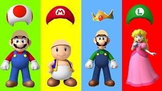 Wrong Hat Mario Bros Luigi Toad Princess Peach Finger Family Song Nursery Rhymes