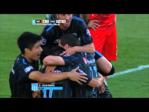 Gol de Romero. Independiente 0 – Racing 2. Ida. Liguilla Pre-Libertadores 2015. Primera División.