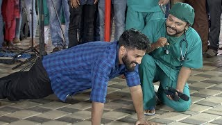 Subscribe to Mazhavil Manorama now for your daily entertainment dose :http://www.youtube.com/subscription_center?add_user=MazhavilManoramaUdan Panam :  Gowtham... an intern from the Kozhikkode Medical Collage, how he get this push up target? Watch this funny moments...Follow us on Facebook : https://www.facebook.com/mazhavilmanorama.tvFollow us on Twitter : https://twitter.com/yourmazhavilFollow us on Google Plus : https://plus.google.com/+MazhavilManoramaTVTo Go To Playlist :http://bit.ly/2pE2N2GAbout the showUdan Panam is an outdoor game show, where a contestant play an interactive game with an ATM machine situated in a public area to win cash prize. The ATM will be set up in crowded place like shopping malls, supermarkets, bus stands, railway stations, college campus and beaches.There will be several levels between the contestants and top prize. One wrong move can drop them off from the game. The contestants are challenged between a mix of knowledge based questions and actions based tasks. The task must be accomplished by the contestants during a given time to win the cash. The cash prize won will can be withdrawn by the contestant at the end. The show aims to catch surprise and excitement of the common people while they become contestants all of a sudden. About the Channel:Mazhavil Manorama, Kerala's most popular entertainment channel, is a unit of MM TV Ltd — a Malayala  Manorama television venture. Malayala Manorama is one of the oldest and  most illustrious media houses in India. Mazhavil Manorama adds color to the group's diverse interest in media.Right from its inception on 31st October 2011, Mazhavil Manorama has redefined television viewing and entertainment in the regional space of Malayalam.  Headquartered in Kochi, the channel has offices across the country and overseas. Innovative content mix and cutting edge technology differentiates it from other players in the market. Mazhavil Manorama has a successful blend of fiction and nonfiction elements that has helped it to secure a substantial amount of viewership loyalty. Path breaking reality shows, exclusive weekend mix, fetching soaps makes Mazhavil Manorama extremely popular across all genres of audience.MM TV has a bouquet of 4 channels – Manorama News, Mazhavil Manorama, Mazhavil Manorama HD and Mazhavil International for the Gulf Region. MM TV. Mazhavil Manorama HD is the first television channel in Kerala to transmit its programmes completely in HD.