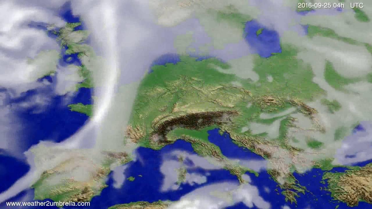 Cloud forecast Europe 2016-09-21