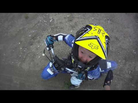 Tyce Dirt Bike without training Wheels July 2013