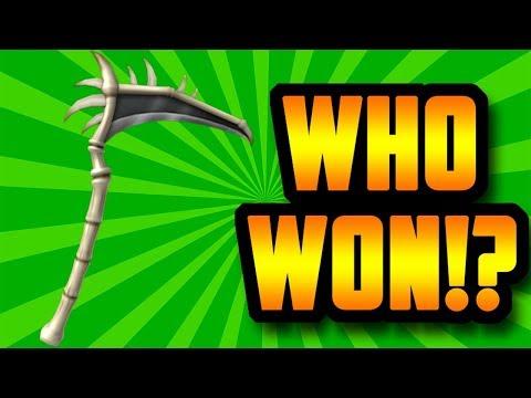 WHO WON THE FREE BONE SCYTHE!? (ROBLOX ASSASSIN)