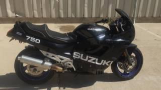 10. 1994 Suzuki Katana GSX 750 (blk) 1657 Fallen Cycles