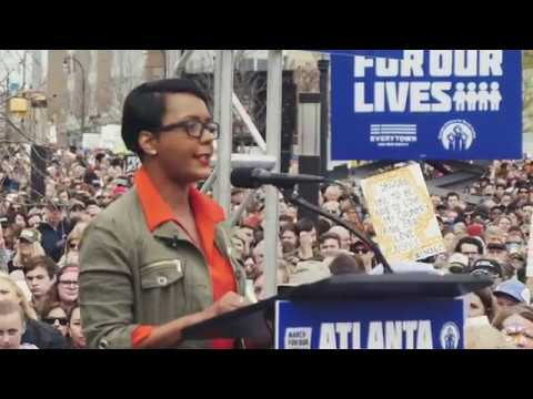 """Mayor Keisha Lance Bottoms speaks at the Atlanta """"March For Our Lives"""" 2018 March"""