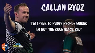 """Callan Rydz: """"I'm there to prove people wrong, I'm not the countback kid"""""""