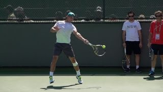 Tennis Highlights, Video - Rafael Nadal Ultimate Slow Motion Compilation - Forehand - Backhand - Serve - 2013 Indian Wells