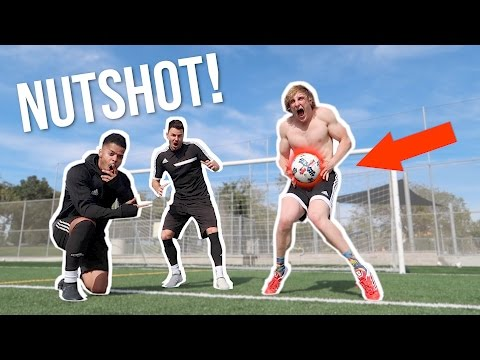 I TOOK A SOCCER BALL TO THE... (worst pain ever) Feat. F2 Freestylers!