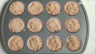 Cómo hacer muffins de moras con canela