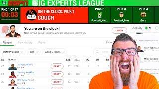 ESPN Fantasy Football Draft 2019 (IG Experts League)
