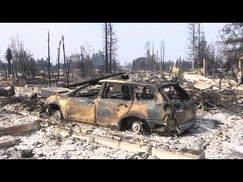 CA Wildfire Victims Seek Help After Losing Homes