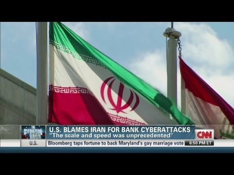 U.S. blames Iran for bank cyberattacks