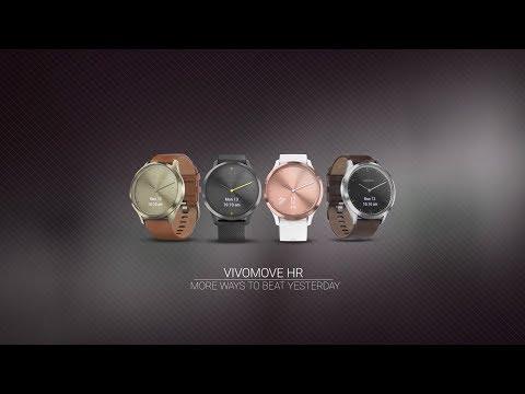 Smartwatch GARMIN Vivomove HR Sport Czarny (czarny pasek silikonowy) (L)