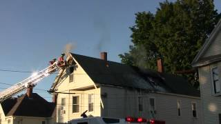 Auburn (ME) United States  city photos gallery : Summer Street Fire in Auburn, Maine