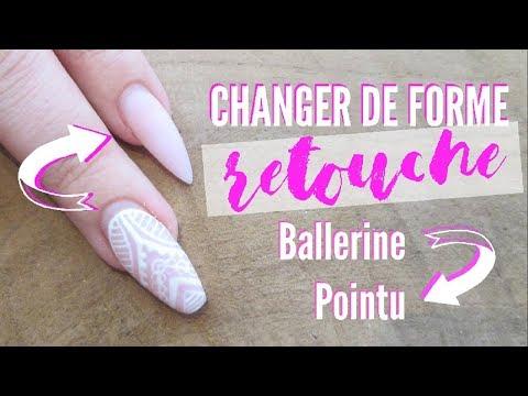 Gel nails - Changer de forme à la lime à la retouche - Gel et l'acrylique  Melissa Easy Nails