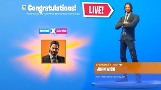 *NEW* JOHN WICK EVENT in Fortnite! FREE WICK'S BOUNTY REWARDS! (Fortnite Battle Royale)