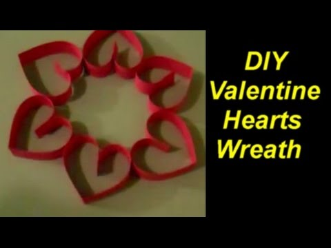 How to Make a Valentine Hearts Wreath from Scrapbooking Paper