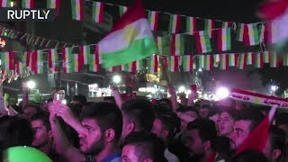 Video Historic Vote: Iraqi Kurds celebrate independence referendum in Erbil MP3, 3GP, MP4, WEBM, AVI, FLV Oktober 2017