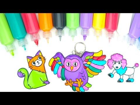 Раскрашиваем детские витражи учим цвета - DomaVideo.Ru