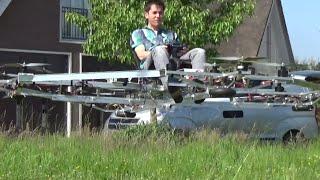 Imaginez un drone géant pour se déplacer, c'est son projet !
