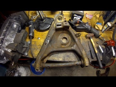 Control Arm Bushing Removal at Home (without a torch) 1984 Chevrolet Truck C10 DIY