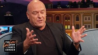 """James asks Dean Norris about playing a law enforcement agent 35 times in his career and if it comes in handy whenever he's pulled over by the police (it does).More Late Late Show:Subscribe: http://bit.ly/CordenYouTubeWatch Full Episodes: http://bit.ly/1ENyPw4Facebook: http://on.fb.me/19PIHLCTwitter: http://bit.ly/1Iv0q6kInstagram: http://bit.ly/latelategramWatch The Late Late Show with James Corden weeknights at 12:35 AM ET/11:35 PM CT. Only on CBS.Get new episodes of shows you love across devices the next day, stream live TV, and watch full seasons of CBS fan favorites anytime, anywhere with CBS All Access. Try it free! http://bit.ly/1OQA29B---Each week night, THE LATE LATE SHOW with JAMES CORDEN throws the ultimate late night after party with a mix of celebrity guests, edgy musical acts, games and sketches. Corden differentiates his show by offering viewers a peek behind-the-scenes into the green room, bringing all of his guests out at once and lending his musical and acting talents to various sketches. Additionally, bandleader Reggie Watts and the house band provide original, improvised music throughout the show. Since Corden took the reigns as host in March 2015, he has quickly become known for generating buzzworthy viral videos, such as Carpool Karaoke."""""""