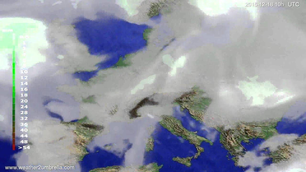 Precipitation forecast Europe 2015-12-16