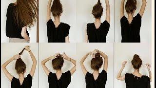 делаем модные прически пошагово на средние волосы
