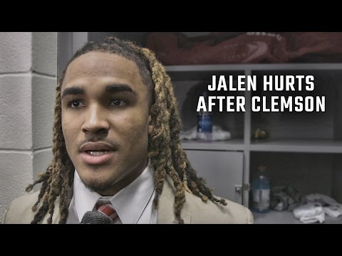 Hear what Jalen Hurts has to say after loss to Clemson 35-31 (видео)