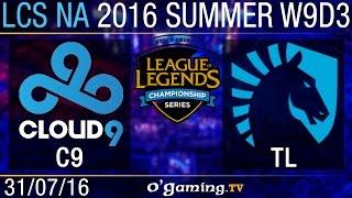 Cloud9 vs Liquid - LCS NA Summer Split 2016 - W9D3