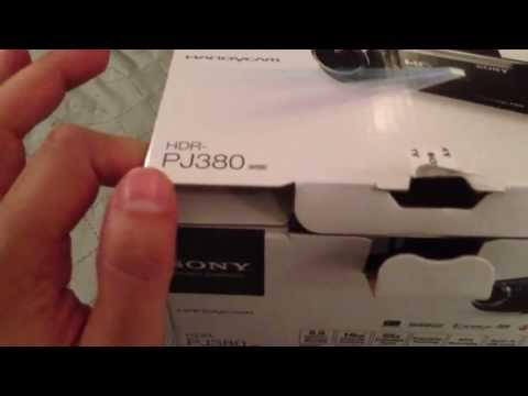 Sony Handycam HDR-PJ380 Unbox & Overview