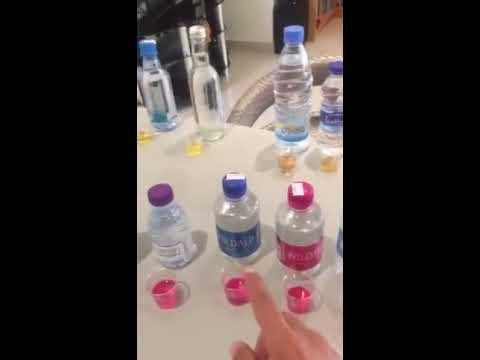 #فيديو : مواطن يستعرض ترتيب أفضل أنواع المياه التجارية للشرب
