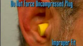 Fitting Foam Earplugs