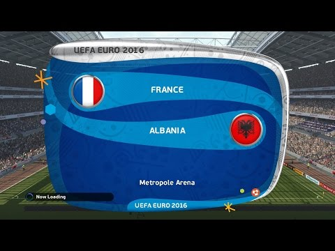 PES 2016 France Vs Albania 2-0 Group Stage Matchday 2 UEFA Euro 2016