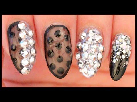 nail art-nero e argento glam!