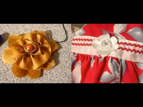 How To Make Fabric Flower For Frock Video In Tamil (HD)