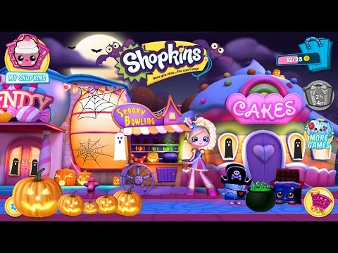Shopkins World Welcome to Shopville Halloween Update Spooky Bowling Game