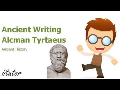 √ Ancient Writing Alcman Tyrtaeus | iitutor