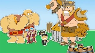 """Clash Of Clans-""""NEW""""FUNNY VILLAGE ANIMATION! (Barbarian King VS Harry Potter)!"""