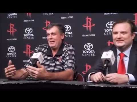 Kevin McHale & Daryl Morey Full Houston Rockets Interview - Media Day 2014
