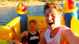 RAFTING IN A BOUNCE HOUSE!