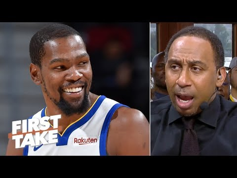 KD could return for a title run next season if he stays with the Warriors - Stephen A. | First Take