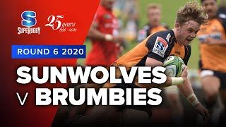 Sunwolves v Brumbies Rd.6 2020 Super rugby video highlights | Super Rugby Video Highlights