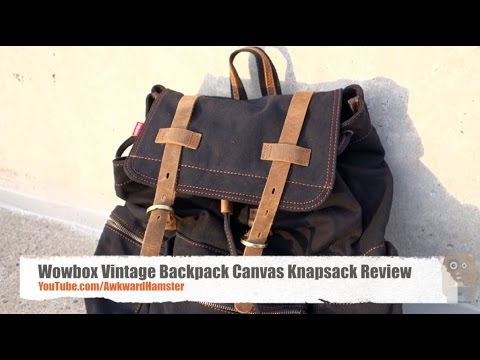 Wowbox Vintage Backpack Canvas Knapsack Review