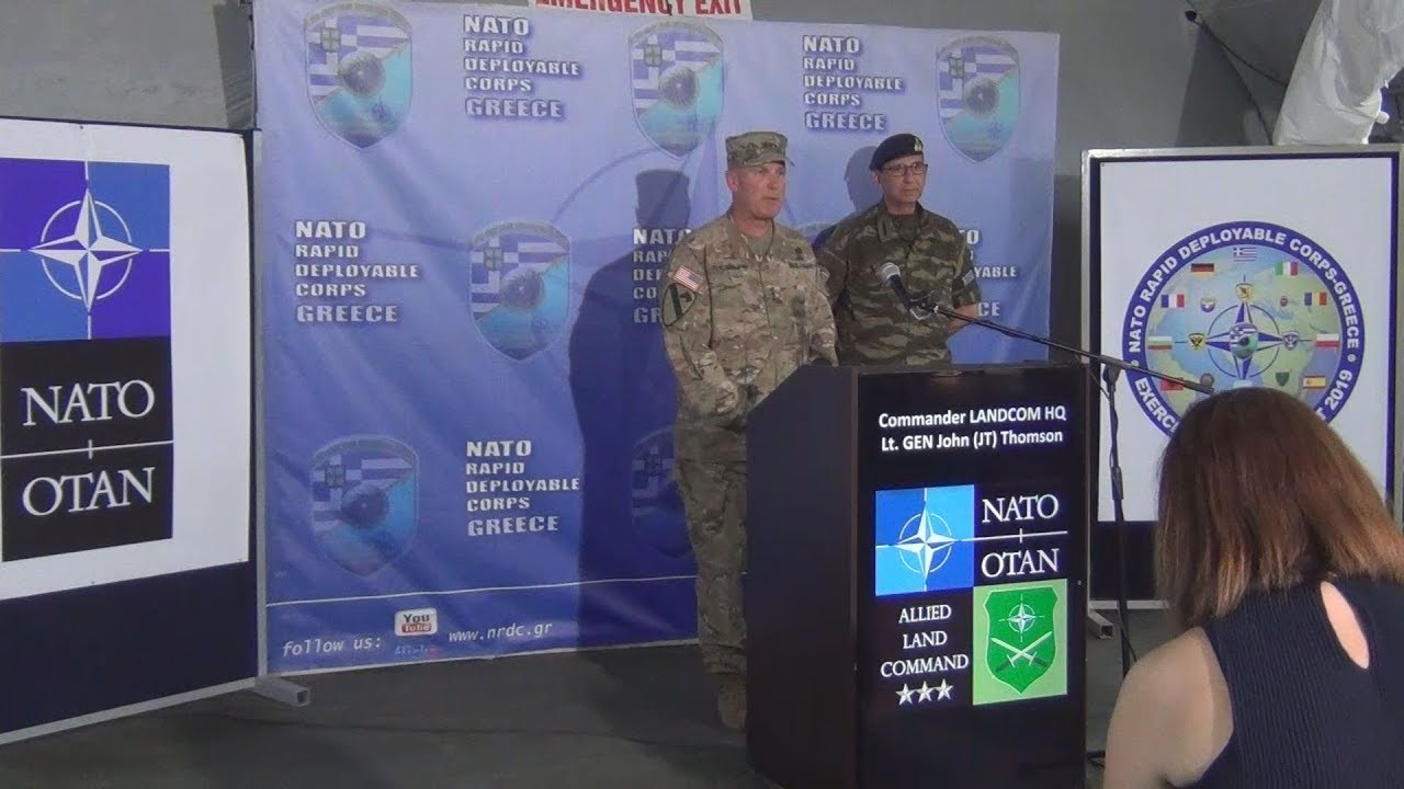 Ο διοικητής της Χερσαίας Συμμαχικής Διοίκησης του ΝΑΤΟ στη Θεσσαλονίκη