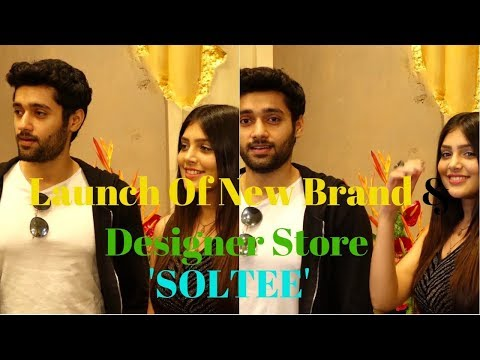 Utkarsh Sharma & Ishita Chauhan At The Launch Of New Brand & Designer Store 'SOLTEE'